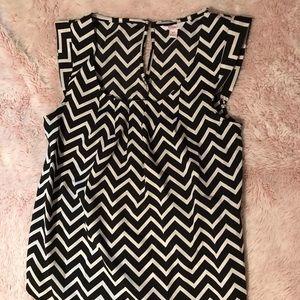 Women's chevron striped blouse